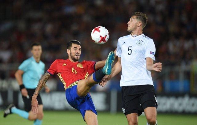 Dani Ceballos en la final del Europeo Sub-21
