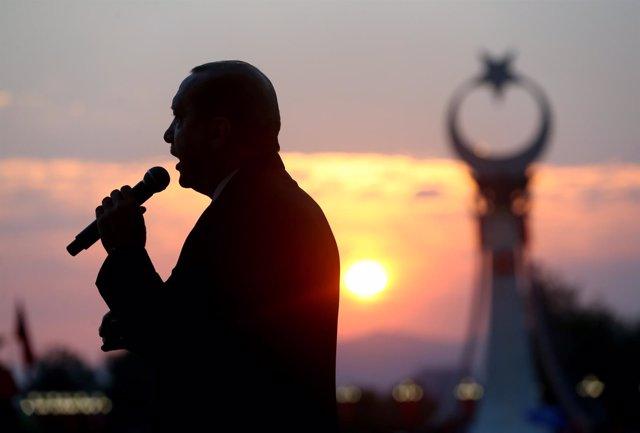 El presidente turco, Recep Tayyip Erdogan, en Ankara