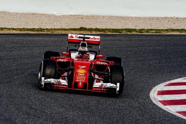 Kimi Raikkonen prueba el 'Halo'