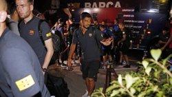 El FC Barcelona aterra als Estats Units per començar la seva gira d'estiu (MIGUEL RUIZ /FCB)