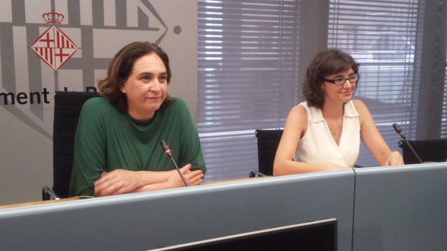 La alcaldesa Ada Colau y la concejal Mercedes Vidal