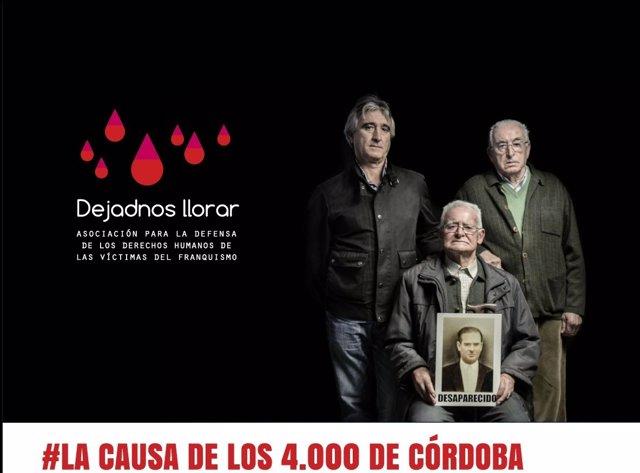 Cartel de la campaña de 'Dejadnos llorar' por 'La causa de los 4.000 de Córdoba'