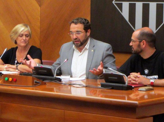 Juli Fernández en el pleno para despedirse del cargo de alcalde