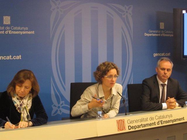 Maria Jesús Mier, Meritxell Ruiz y Lluís Baulenas en mayo