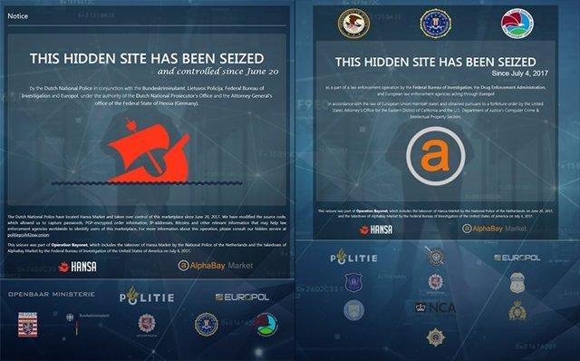 Mercados negros de la dark web clausurados por las autoridades