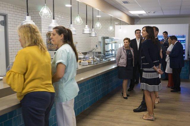 Real inaugura las nuevas instalaciones de cocina y cafetería del hospital