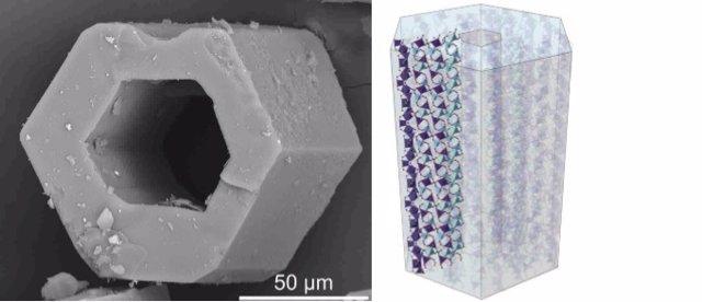 Imagen de los materiales compuestos por secuencias de metales dentro de las héli
