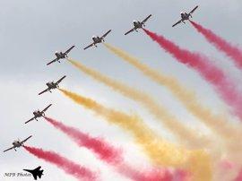 El Festival Aéreo de Gijón alcanza el domingo su XII edición con la presencia de la Fuerza Aérea Suiza