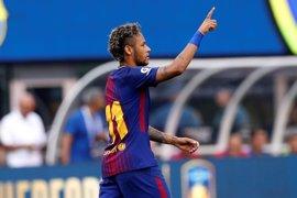 Neymar acapara el estreno del Barça de Valverde con un doblete ante la Juventus