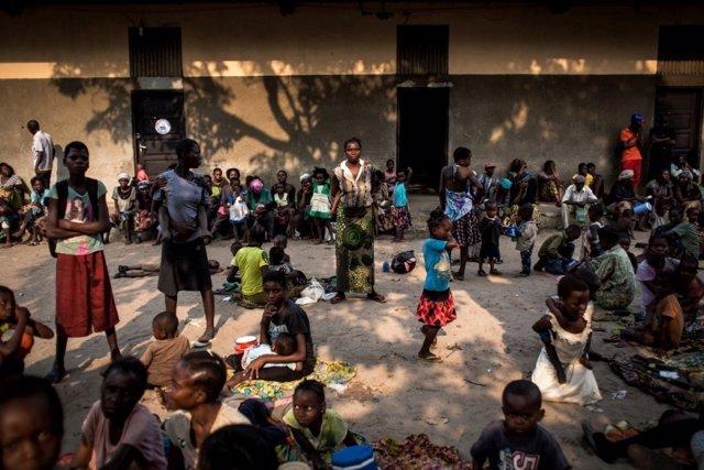 Desplazados por la violencia en Kasai