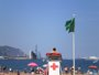 Foto: La bandera verde ondea en Las Arenas, Ereaga, Muriola, Plentzia, Gorliz, Armintza, EA, Isuntza y Arrigorri