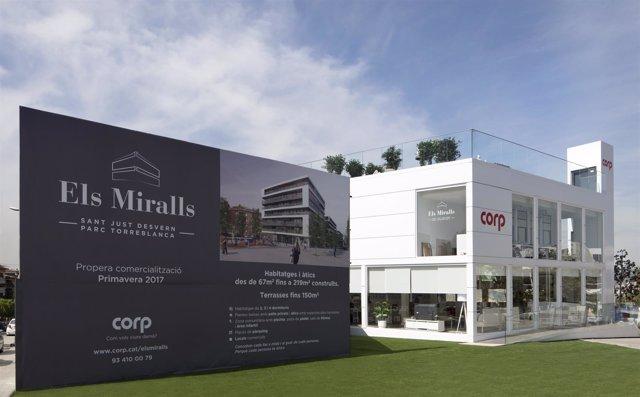 Promoción 'Els Miralls' de la inmobiliaria Corp