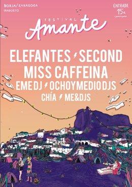 Cartel anunciador del I Festival Amante de Borja