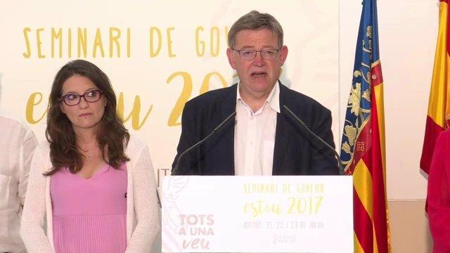 Puig y Oltra, en la rueda de prensa de cierre del cónclave
