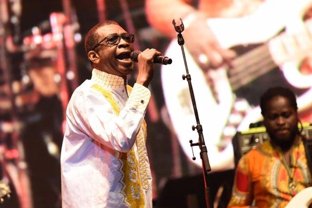 Concierto de Youssou N'Dour en Pirineos Sur