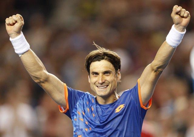David Ferrer en el Open de Australia