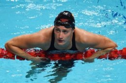 Mireia Belmonte en el Mundial de Budapest 2017
