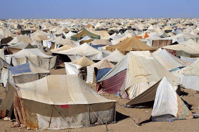 Campamento de protesta saharaui en Gdeim Izik