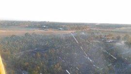 Activado el nivel 1 del Plan Infoca por un incendio forestal en La Puebla del Río (Sevilla)