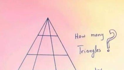 ¿Cuántos triángulos ves en esta imagen?