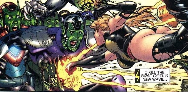 Captain Marvel vs Skrulls