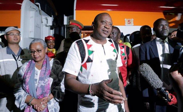 El presidente de Kenya Uhuru Kenyatta