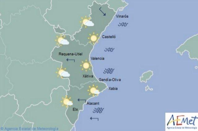 Predicción del tiempo para este martes 25 de julio