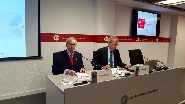 Miquel Valls y Joan Ramon Rovira (Cámara de Barcelona)