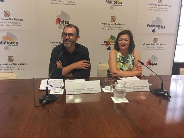 Barceló y Garrido en rueda de prensa