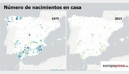 Así ha cambiado el mapa de nacimientos en España en 40 años