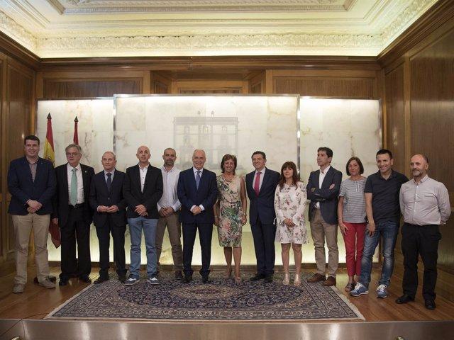 Ceniceros, con los alcaldes