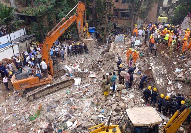Derrumbe de un edificio en Bombay