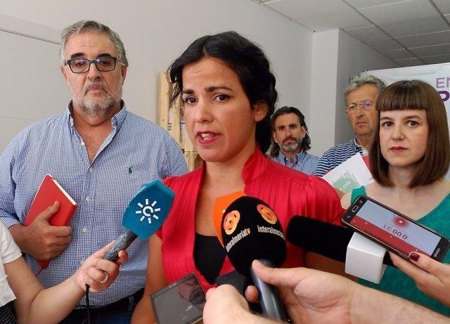 La coordinadora de Podemos Andalucía, Teresa Rodríguez