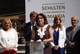 Valladolid. La consejera de Turismo inaugurando la exposición