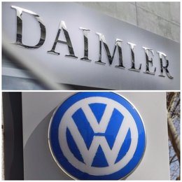 Collage logotipos Daimler y Volkswagen