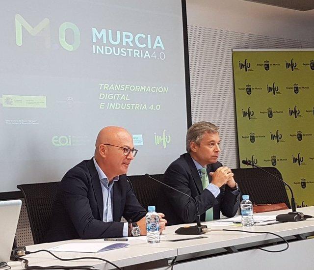 Juan Hernández y Mario Buisán durante jornada