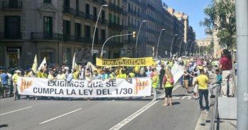 El sector del taxi convoca este jueves paros de 24 horas y una manifestación en Madrid contra las VTC