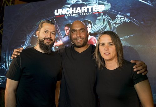 Arne Meyer, Shaun Escayg y Almudena Soria, de Naughty Dog
