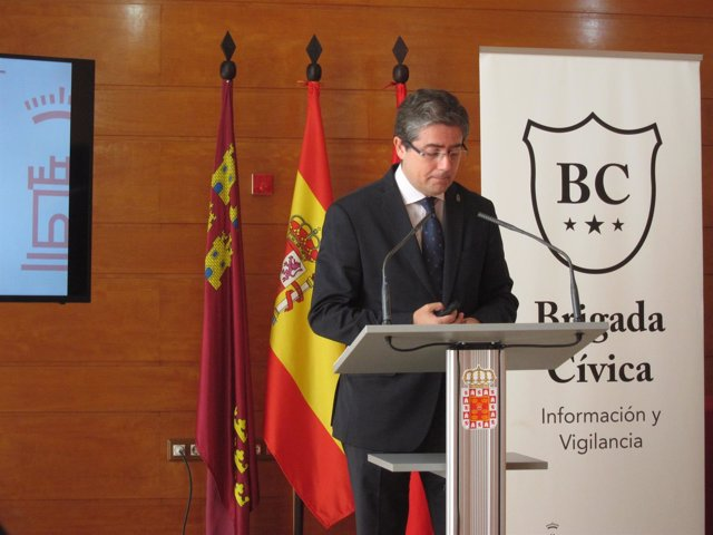 Jesús Pacheco durante la presentación de los presupuestos