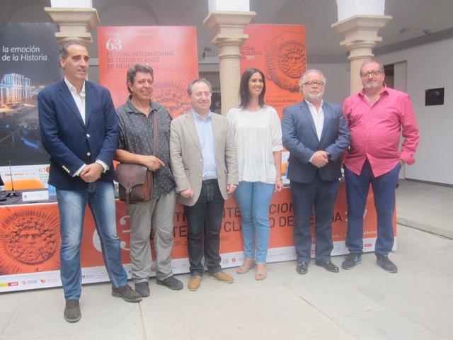 Presentación de las tres obras para el Festival de Mérida en Medellín (Badajoz)