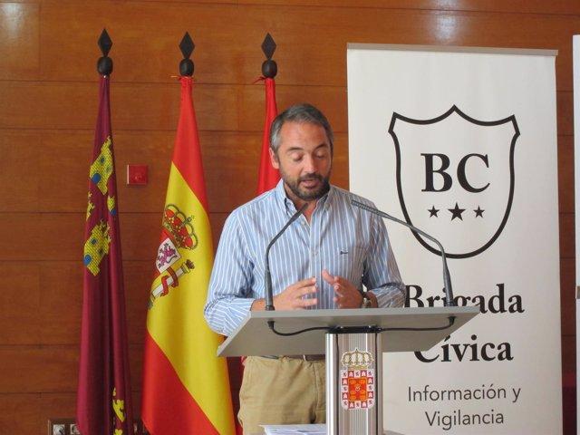 Rafael Gómez durante la presentación de los presupuestos