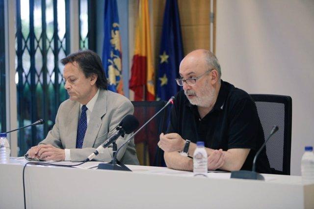 Jesús Lizcano y Manuel Alcaraz