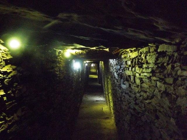 Corredor del dolmen de La Pastoria, en Valencina.