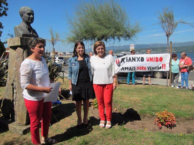 Homenaje del PSdeG a Castelao en Rianxo