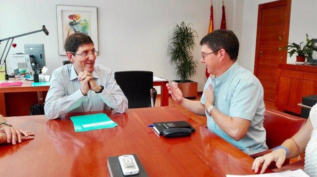 Reunión del consejero con el presidente de la Federación de Personas Sordas