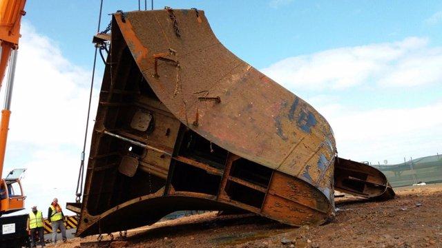Piezas del buque 'Lirio'
