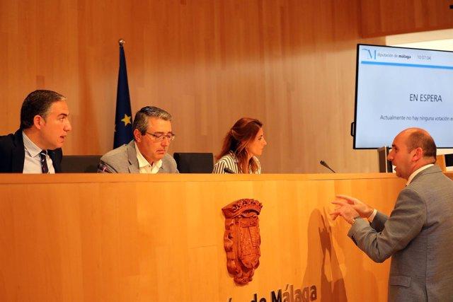 Pleno en  Diputación. Elías Bendodo