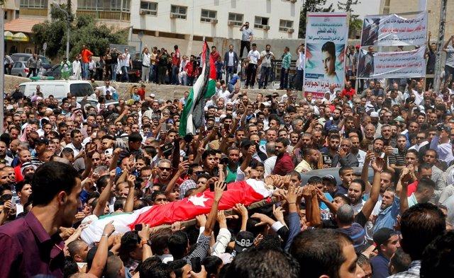 Funeral de Mohammad Jawawdah en Amán