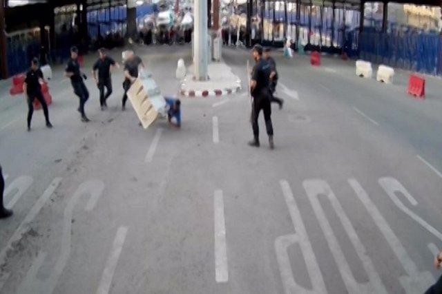 Detención del atacante en el paso fronterizo de Melilla