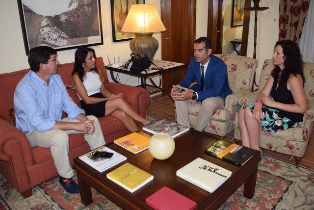 Reunión entre Juan Marín (Cs) y Ramón Fernández-Pacheco (PP)